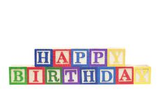 Alphabet Blocks - Birthday Stock Images