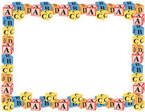 Alphabet blocks border vector Stock Photo