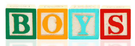 Alphabet Blocks BOYS Royalty Free Stock Photo