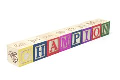 Alphabet Blocks - Champion Royalty Free Stock Image