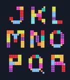 Alphabet blocks color style  set. Illustration Royalty Free Stock Photo