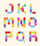 Alphabet blocks color style  set. Stock Image