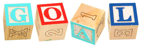 Alphabet Blocks GOAL Stock Images