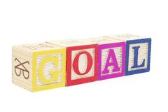Alphabet Blocks - Goal Royalty Free Stock Photography