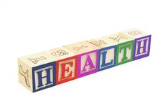 Alphabet Blocks - Health Royalty Free Stock Photo