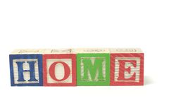 Alphabet Blocks - Home Royalty Free Stock Image