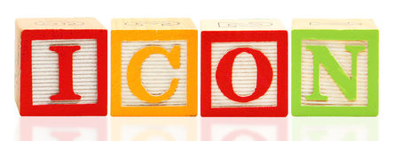 Alphabet Blocks ICON Stock Images