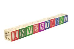Alphabet Blocks - Investment royalty free stock photos