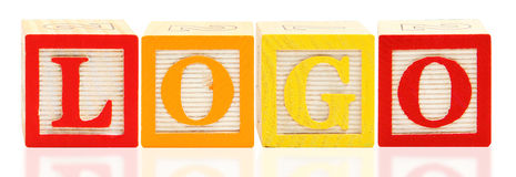 Alphabet Blocks LOGO Stock Photography