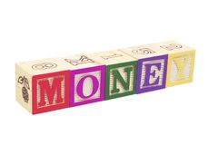 Alphabet Blocks - Money Stock Photo