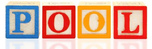Alphabet Blocks POOL Stock Photo