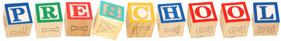 Alphabet Blocks PRESCHOOL Stock Photography