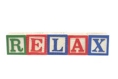 Alphabet Blocks - Relax Royalty Free Stock Image