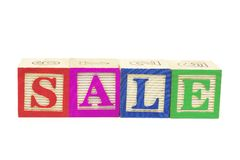 Alphabet Blocks - Sale Stock Photos