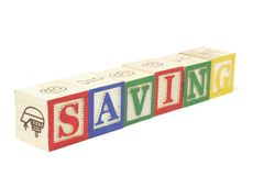 Alphabet Blocks - Saving Stock Photos