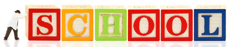 Alphabet Blocks School Stock Photo