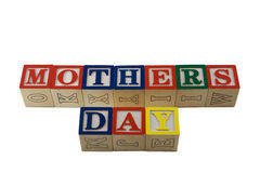 Alphabet blocks spelling mothers day Royalty Free Stock Images