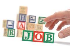 Alphabet Blocks spelling the words job Royalty Free Stock Photo