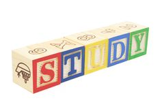 Alphabet Blocks - Study Stock Photography