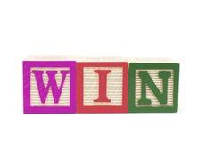 Alphabet Blocks - Win Stock Photography