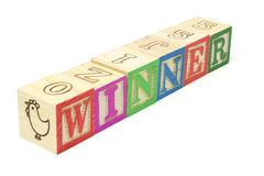 Alphabet Blocks -  Winner Stock Photo
