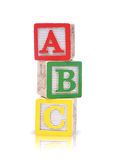 Alphabet blocks Stock Photos