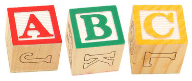 Alphabet blockt ABC Stockfotografie