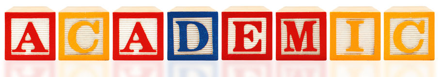 Alphabet blockt Academic Lizenzfreies Stockfoto