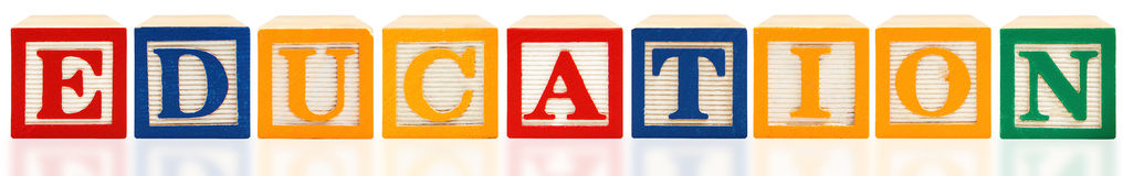 Alphabet blockt Ausbildung Lizenzfreie Stockfotos