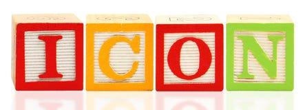 Alphabet blockt IKONE Stockbilder