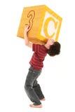 Alphabet blockt Jungen mit Zeichen C Lizenzfreie Stockbilder