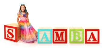 Alphabet blockt SAMBA Lizenzfreies Stockfoto
