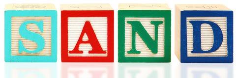 Alphabet blockt SAND Stockbilder