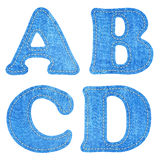 Alphabet  blue jean Stock Photos