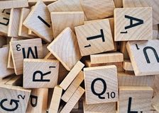 Alphabet, Board, Game royalty free stock image