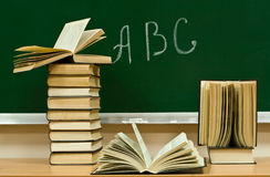 Alphabet and books Stock Images