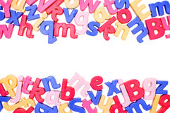 Alphabet Border. Made up from colourful letters with room for copyspace Royalty Free Stock Image