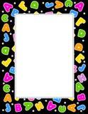 Alphabet border Royalty Free Stock Photos