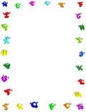Alphabet Border. Happy and colorful alphabet a through z .White background Stock Photos