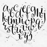 Alphabet bouclé de vecteur Tiré par la main artistique Image libre de droits