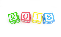 Alphabet box 2013 new year's Stock Photography