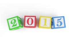 Alphabet box 2015 new year's Royalty Free Stock Image