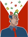 Alphabet Brain royalty free stock photo