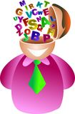 Alphabet brain Stock Photo
