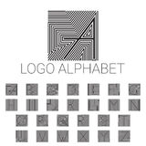 Alphabet brand letters as logo. ABC with patterned background. Vector illustrator file Royalty Free Stock Images