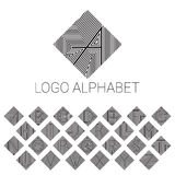 Alphabet brand letters as logo. ABC with patterned background. Vector illustrator file Stock Images