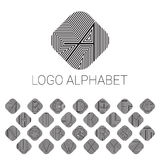 Alphabet brand letters as logo. ABC with patterned background. Vector illustrator file Stock Photography