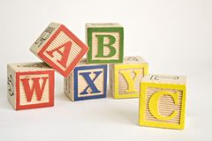 Alphabet bricks Royalty Free Stock Image