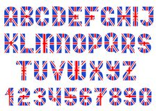 Alphabet of British flag Royalty Free Stock Photo