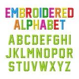 Alphabet brodé illustration stock